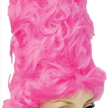 Beehive Gigant S104 Hot Pink D good wig mask for Halloween