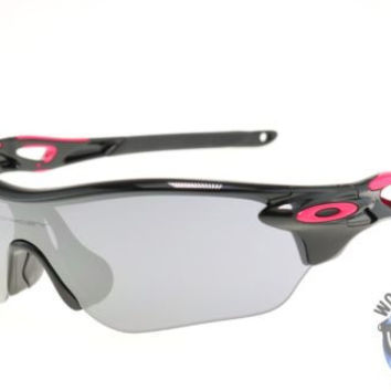 Oakley Women's Sunglasses OO9183-07 RadarLock Edge Polished Black/ Black Iridium