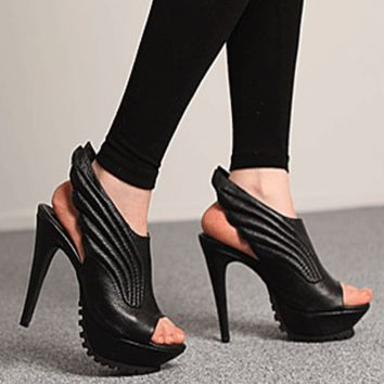 Black Vintage 2016 new fashion elegant high heel shoes for summer graduation ball party  = 4777251332