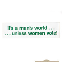 Women's Voting Bumper Sticker