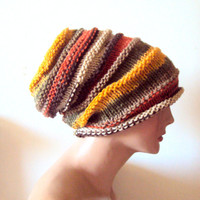 Autumn Colors Super Slouchy Beanie Baggy Hat Men Women Celebrity Hat Dreadlock Hat Rasta Hat Buy 3 or more items get 15% Discount!
