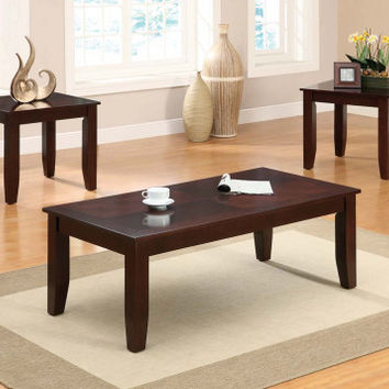 Dark Cherry Finish Coffee, End Tables | Vincent Three Piece Table Set | American Freight