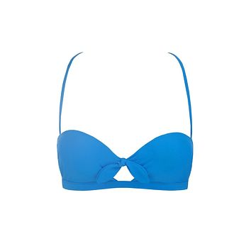 Summer Cut Out Bikini Top - Electric Waters