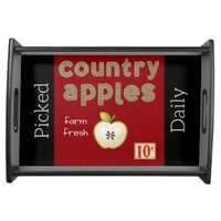 """""""Country Apple"""" SERVING TRAY"""