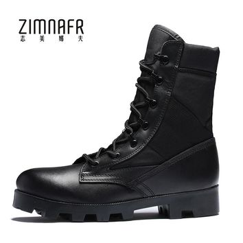 Military Boots Mens Army Boots Male Safety Work Botas Steel Toe Shoes Bota Masculina Militar Winter Black Army Shoes For Men