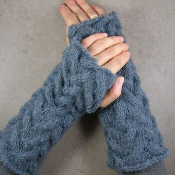 fingerless mittens long arm warmers fingerless gloves by piabarile