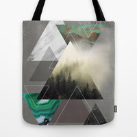 Triangles Symphony Tote Bag by Cafelab
