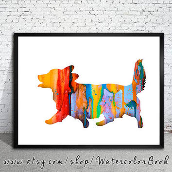 Corgi 5 Watercolor Print, Home Decor, dog watercolor, watercolor painting, Corgi art, Corgi poster, Corgi Illustration, dog Illustration