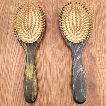 Big Wooden Paddle Comb Professional Healthy Paddle Cushion Hair Loss Massage Hairbrush Comb
