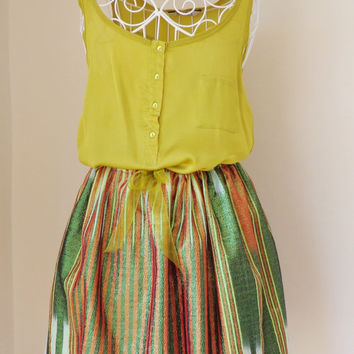 Authentic Cotton Skirt,Women Clothing,Fashion,Summer Trend.