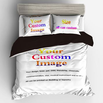 Bedding Set Duvet Cover  Home  3/4pcs Customized  3D Digital Printing Custom Bedding Set. Submit Any Artwork, Design, Picture