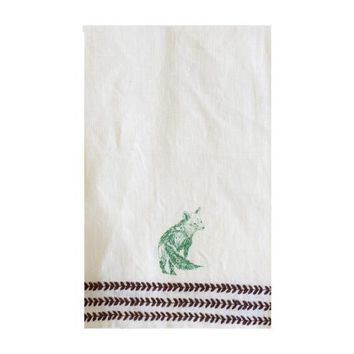 Fox Hunt Linen Hand Towel