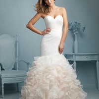 Allure Bridals 9223 Ruffle Mermaid Wedding Dress