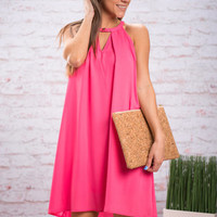 Shape Of Love Dress, Hot Pink