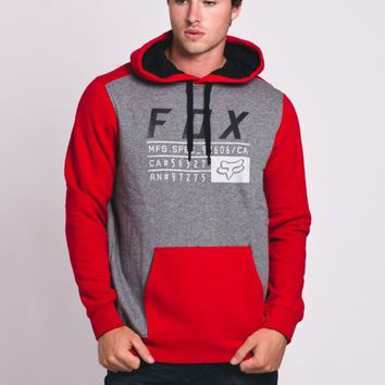 MENS DISTRICT 3 PULLOVER HOODIE - RED