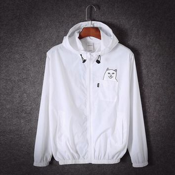 Ripndip Long Sleeve Cardigan Jacket Coat Windbreaker
