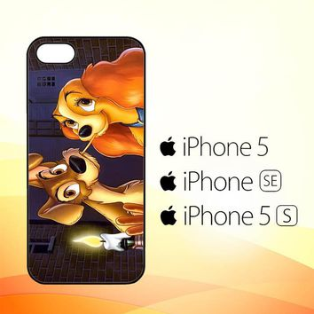 LADY AND TRAMP DISNEY Z1223  iPhone 5|5S|SE Case