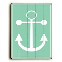 Mint Anchor Vintage Wood Sign