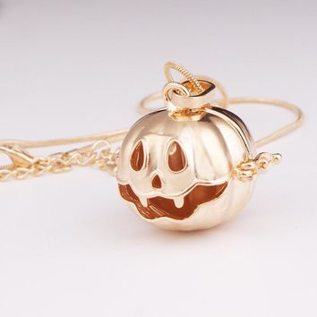 Halloween pumpkin lantern Music angel charm ball necklace  Pregnancy Ball Harmony Bola Pendant   ( fit 16mm ball) SU286