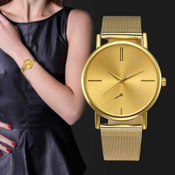 Rose Gold Watch Women Watches Geneva Famous Brands Rhinestone Ladies Dress Quartz Mesh Stainless Steel Strap Wristwatch Clock