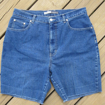High Waisted Shorts Size 16 by DenimAndStuds on Etsy