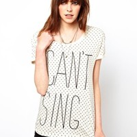 Worn By I Can'T Sing Spotty T-Shirt at asos.com