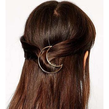 Celebrity Trending Gold Half Moon Hair Pin Wedding Barrette