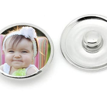 PHOTO CHARM Noosa snap charm.for use with interchangeable photo charm jewelry. snap jewelry