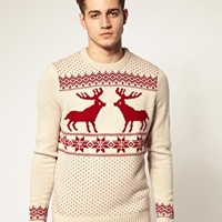 River Island Reindeer Sweater