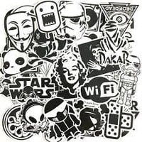 60 PCS Black and White Cool DIY Stickers For Phone