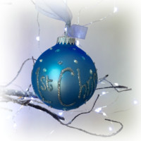 Baby Boy's 1st Christmas Personalised Bauble
