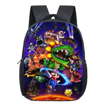 Super Mario party nes switch 13 Inch  Bros Kids Backpack Kindergarten School Bag Children Printing Backpack Girls Boys Mochila AT_80_8