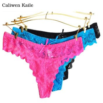 6colors lace Women's Sexy Thongs G-string Underwear Panties Briefs For Ladies T-back New Fashion and Hot Sale