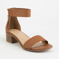CITY CLASSIFIED Block Tan Womens Heeled Sandals