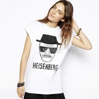 2014 Hot Sale Heisenberg Inspired Cook White T-Shirt Tee Womens Loose Blouse New