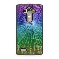 Colorful Cracked Screen LG G4 case