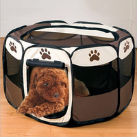 Portable Folding Pet Tent Dog Sleeping Fence Puppy Kennel Folding Exercise Play Foldable Pet Dog House Outdoor Tent Bag