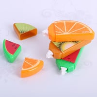 1PCS DIY Cute Kawaii Fruit Correction Tape School Supplies Plastic Material For Student Learning Supplies