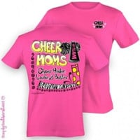 Simply Southern Funny Cheer Mom Cheerleader Girlie Bright T Shirt