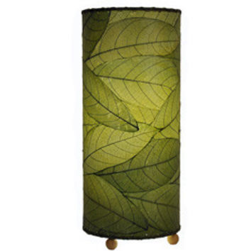 Outdoor Indoor Cylinder  Cocoa Leaf Table Lamp