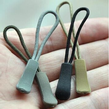 10PCS Long-chain Skid Tail Rope Clothes Accessories Zipper Head Zipper Tail Rope Plastic Zipper Handle Clothing Bag FittingFW115