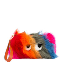 Anya Hindmarch Creeper Fur Clutch Bag