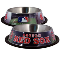 Boston Red Sox Stainless Dog Bowl