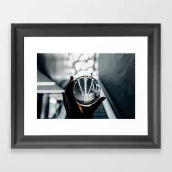 Glass ball Framed Art Print by martisireal