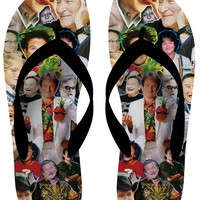 Robin Williams Paparazzi Flip Flops