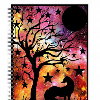 Fox Notebook - Fox Journal - Woodland Theme - Spiral Notebook - Illustrated Journal - Animal Notebook - Unique Notebook - Writing Notebook
