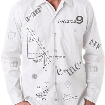 'Physics' Button Down Shirt for Men