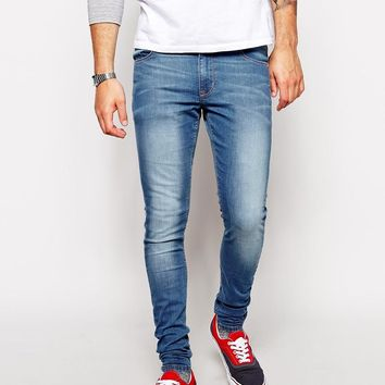 ASOS | ASOS Extreme Super Skinny Jeans In Light Wash at ASOS