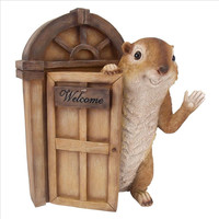 Park Avenue Collection Garden Greetings Squirrel Welcome Statue