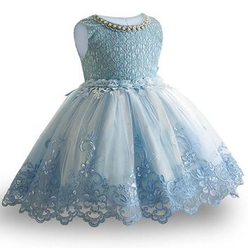 Toddler Girls Baby Princess Dress 2018 Flower Lace Princess Children tutu Dress For Wedding Girls Party Ceremony Custumes